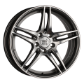 1000 Miglia MM037 7,5x17 5x112 ET47 66,6 Anthracite polished