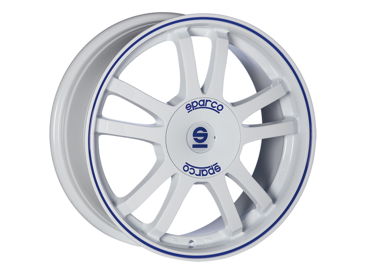 Легковой диск Sparco RALLY 7x16 5x100 ET35 73,1 MATT SILVER TECH BLU LIP