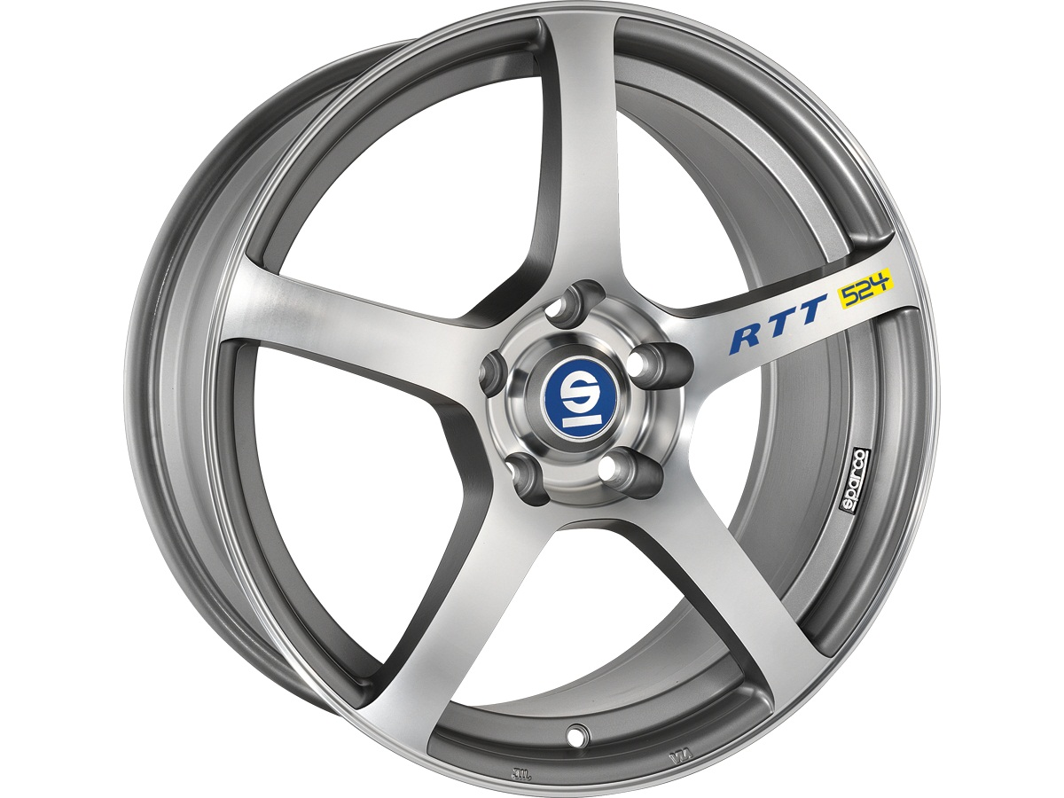 Легковой диск Sparco RTT 524 7x16 4x108 ET25 73,1 MATT SILVER TECH DIAMOND CUT